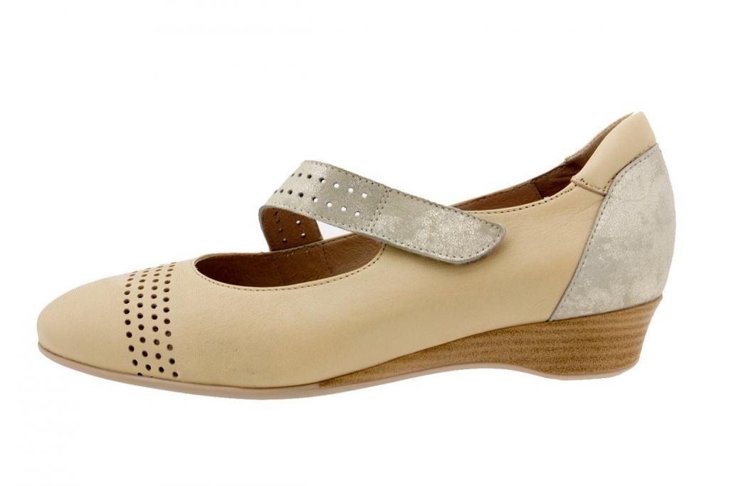 Mary-Jane Leather Cream 6727