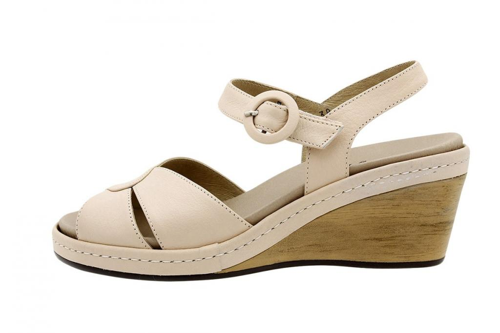 Removable Insole Sandal Nude Leather 6953