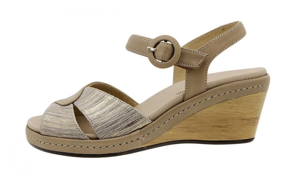 Removable Insole Sandal Tan Leather-Snake 6953