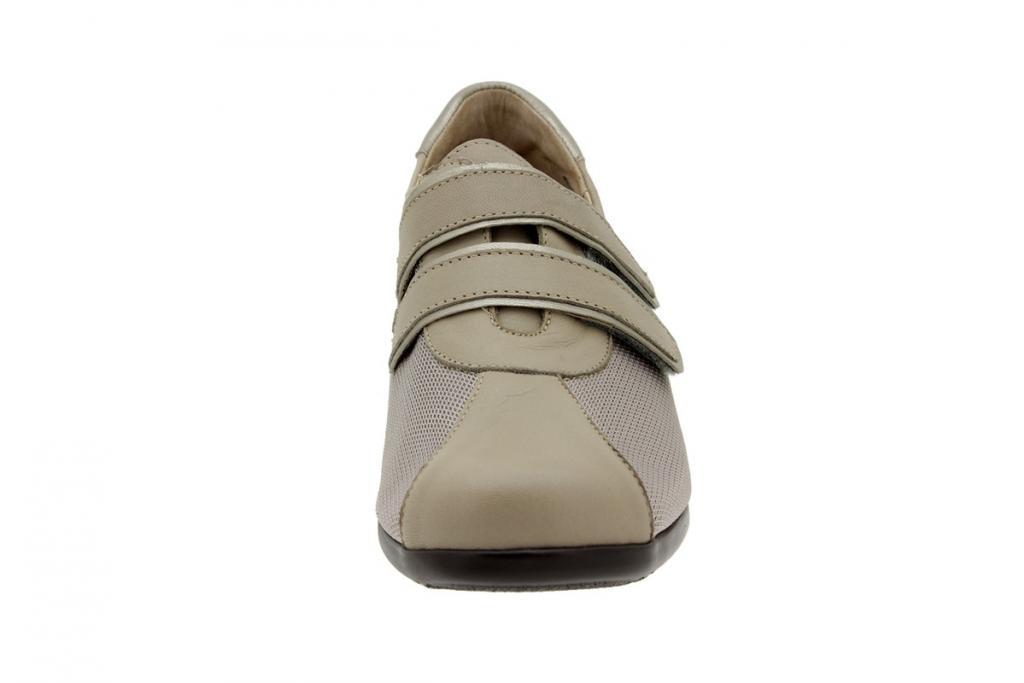 Zapato Velcro Piel Visón 6989