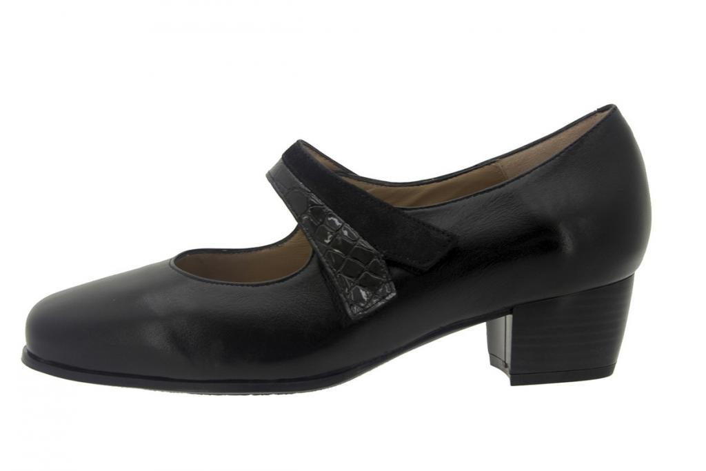 Mary-Jane Leather Black 7103