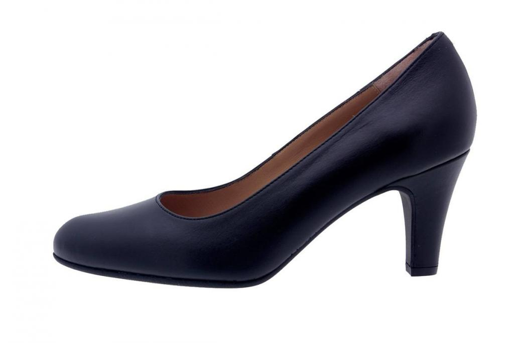 Court shoe Leather Black 7201