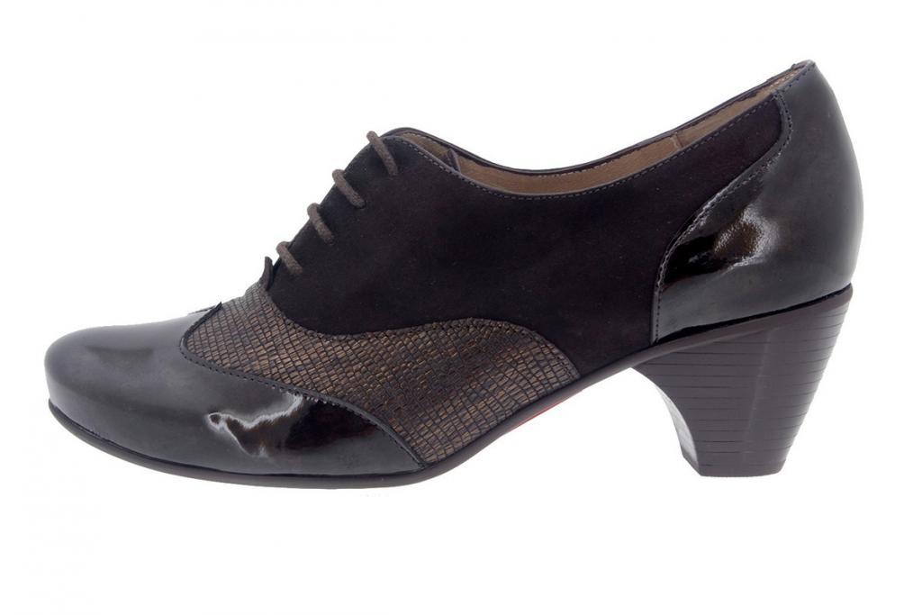 Tie shoe Patent Brown 7401