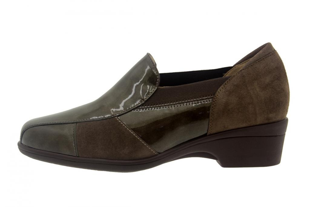 Moccasin Patent Taupe 7603