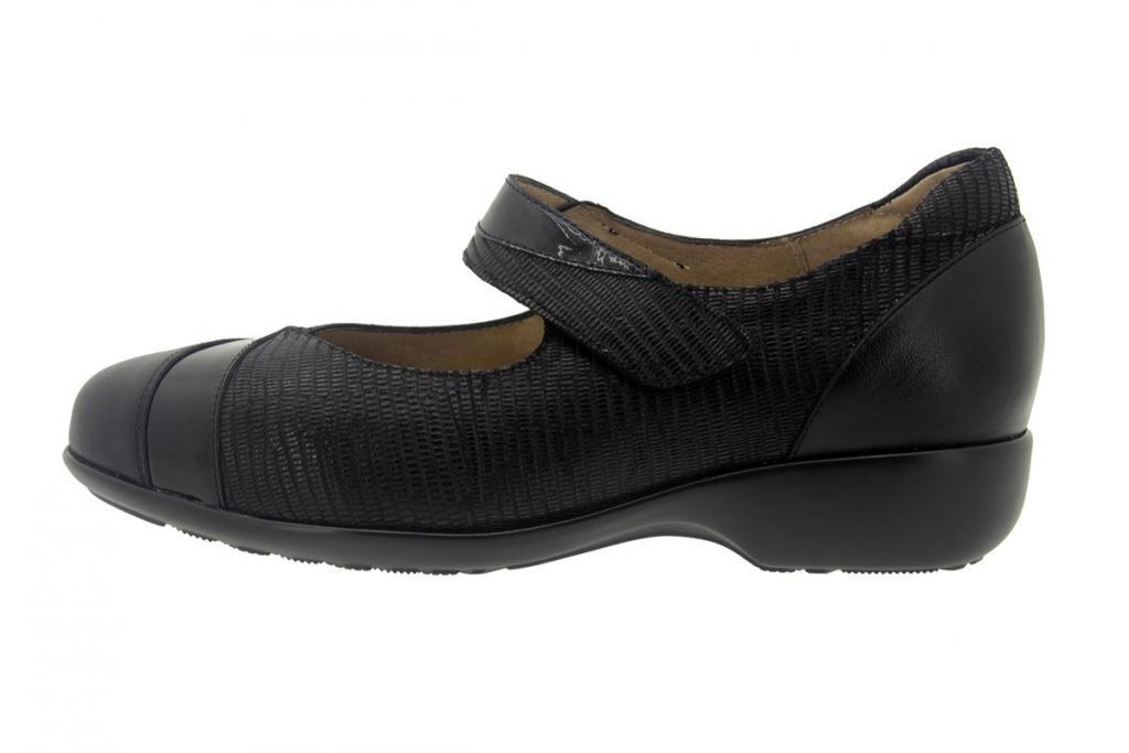 Mary-Jane Leather Black 7680