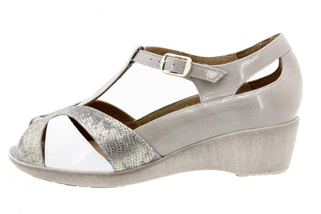 Removable Insole Sandal Metal Grey 8160