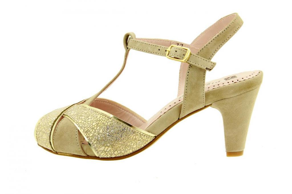 Heel Sandal Metal Sand 8258