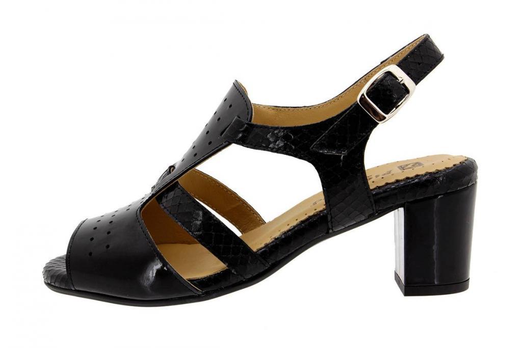 Heel Sandal Patent Black 8493