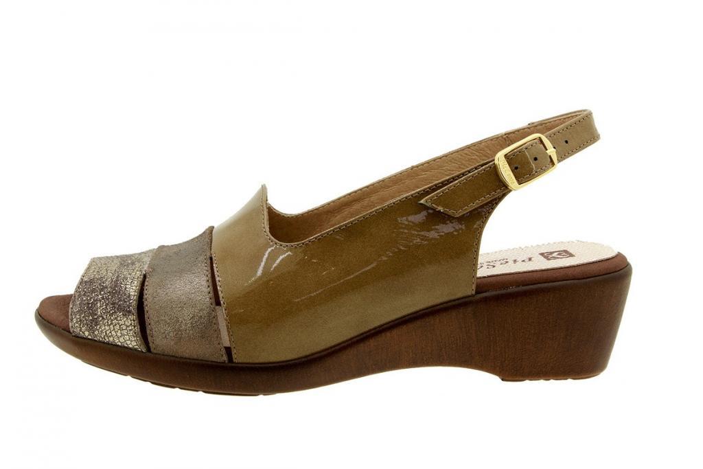 Wegde Sandal Metal Mink 8554
