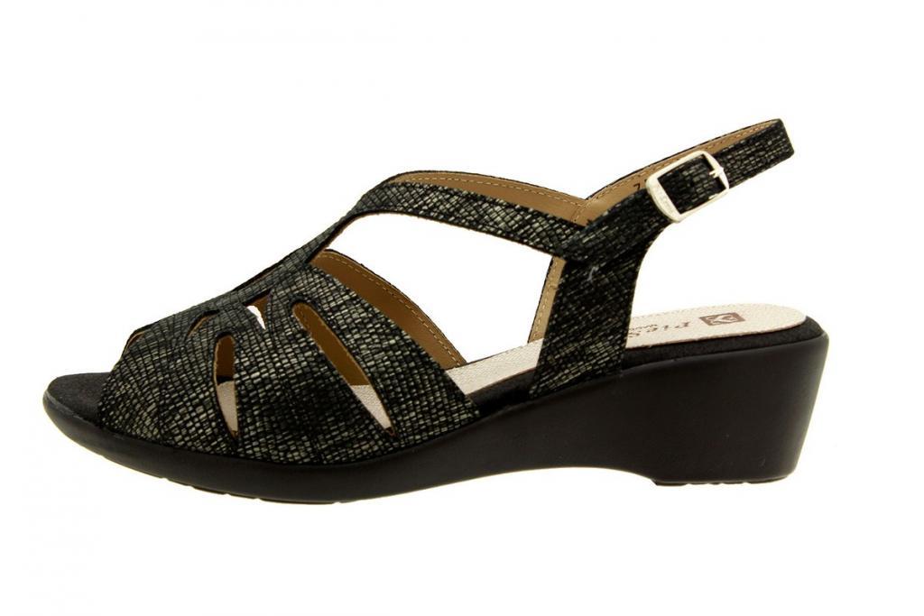 Wegde Sandal Metal Carbon 8555