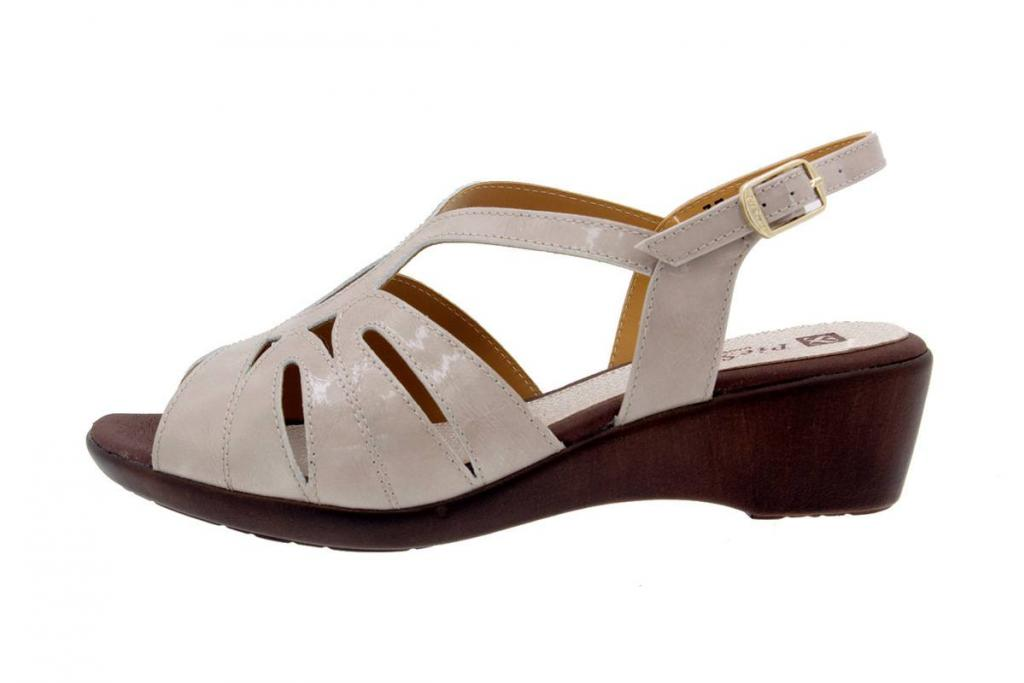 Wegde Sandal Patent Mink 8555