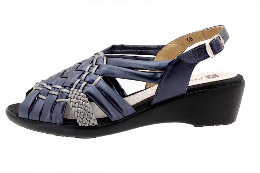Wegde Sandal Tubular Blue-Steel 8563