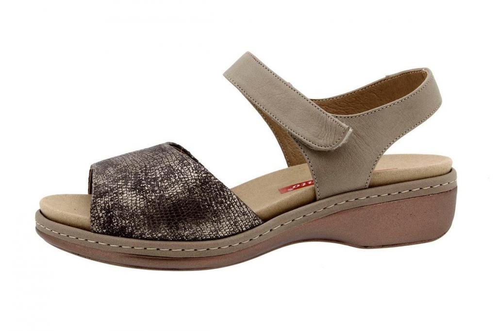 Removable Insole Sandal Metal Mink 8807