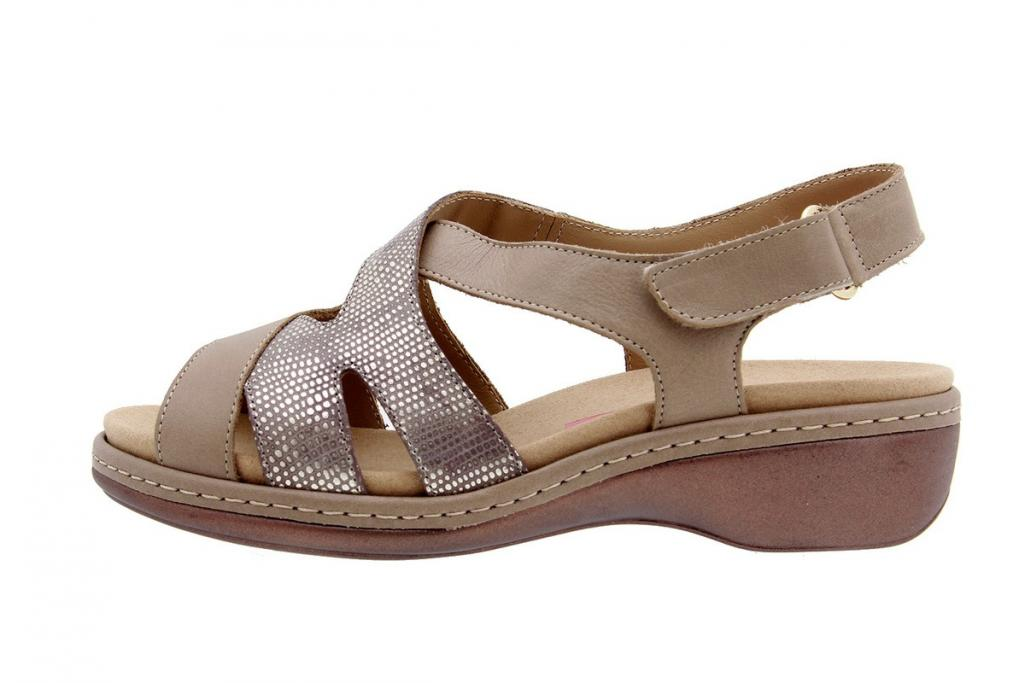 Removable Insole Sandal Leather Mink 8813