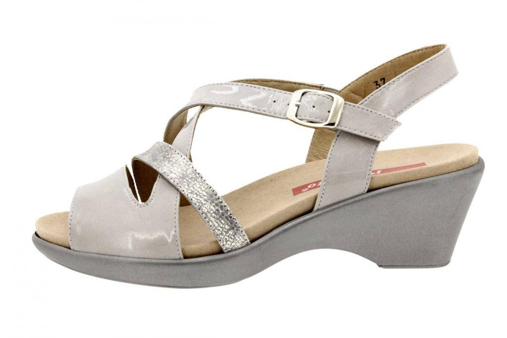 Removable Insole Sandal Patent Pearl 8854