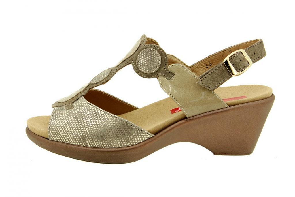 Removable Insole Sandal Metal Mink 8857