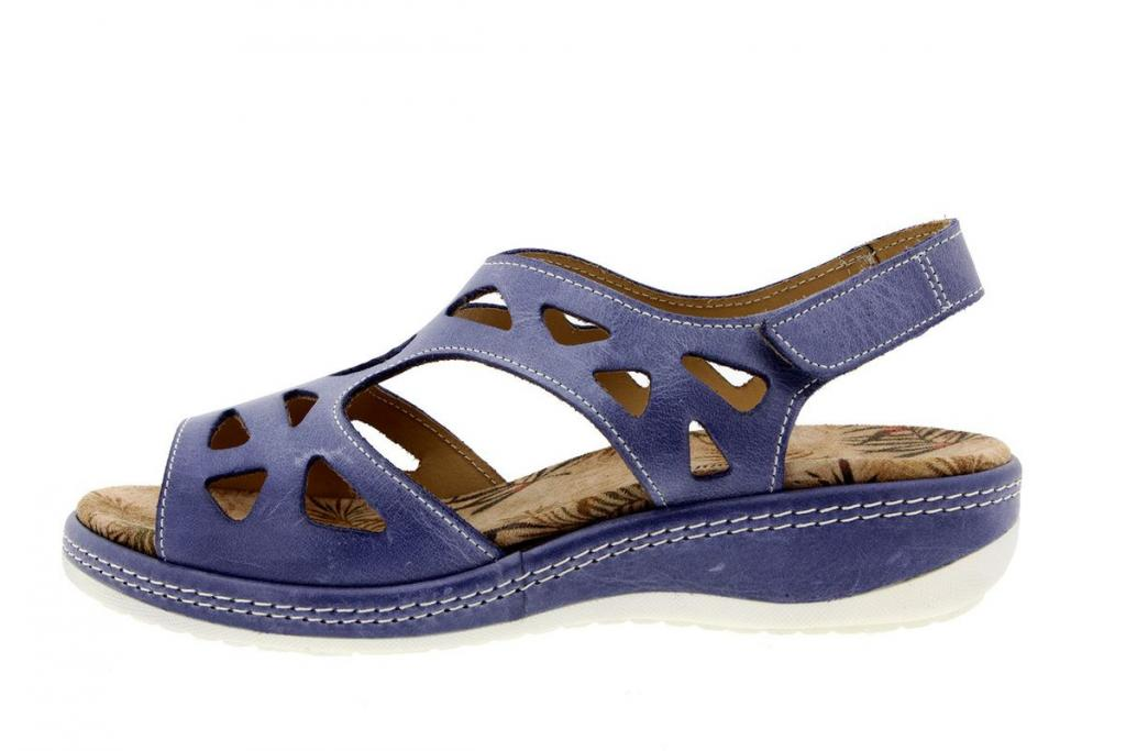 Removable Insole Sandal Leather Jeans 8905
