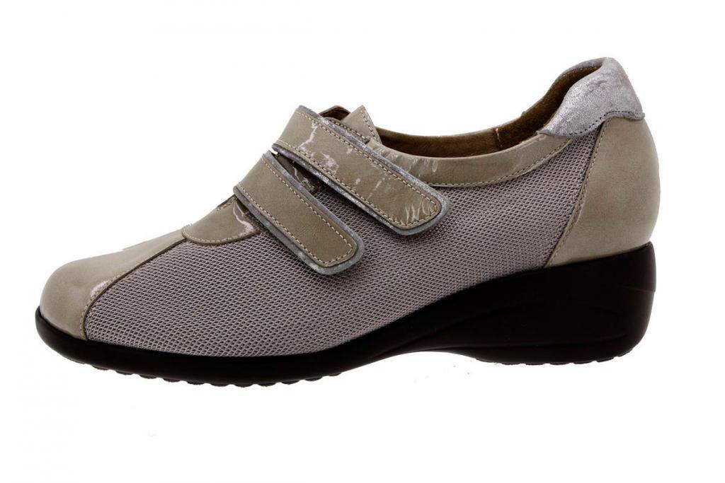 Zapato Velcro Charol Visón 8989