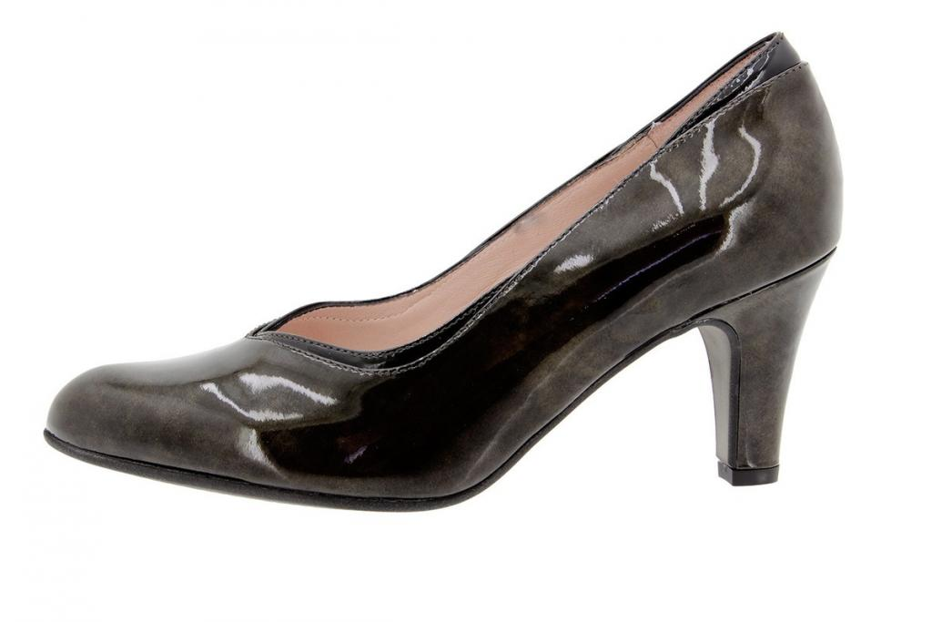 Court shoe Patent Taupe 9206
