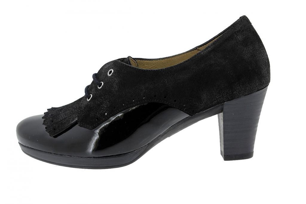 Lace-up Shoe Patent Black 9308