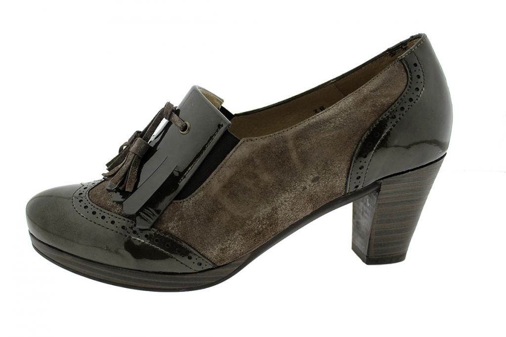 Ankle Boot Shoe Patent Taupe 9310