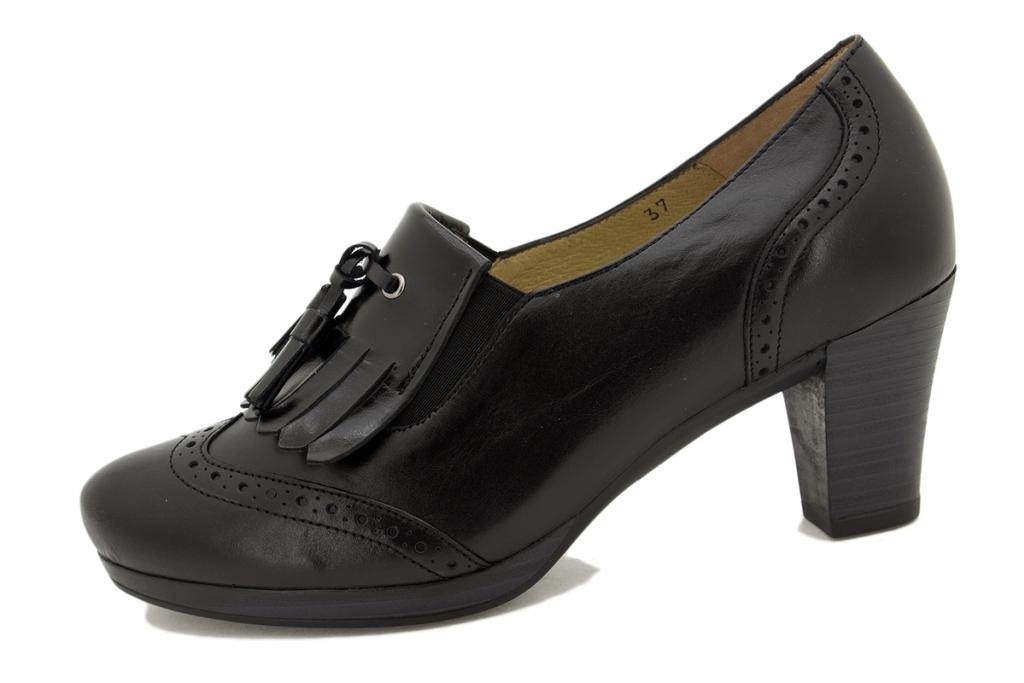 Bootee shoe Black Leather 9310