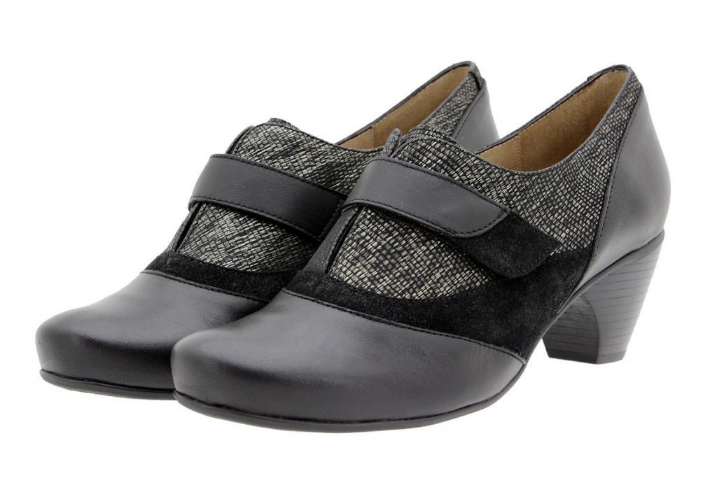 Zapato Velcro Piel-Serpiente Negro 9406