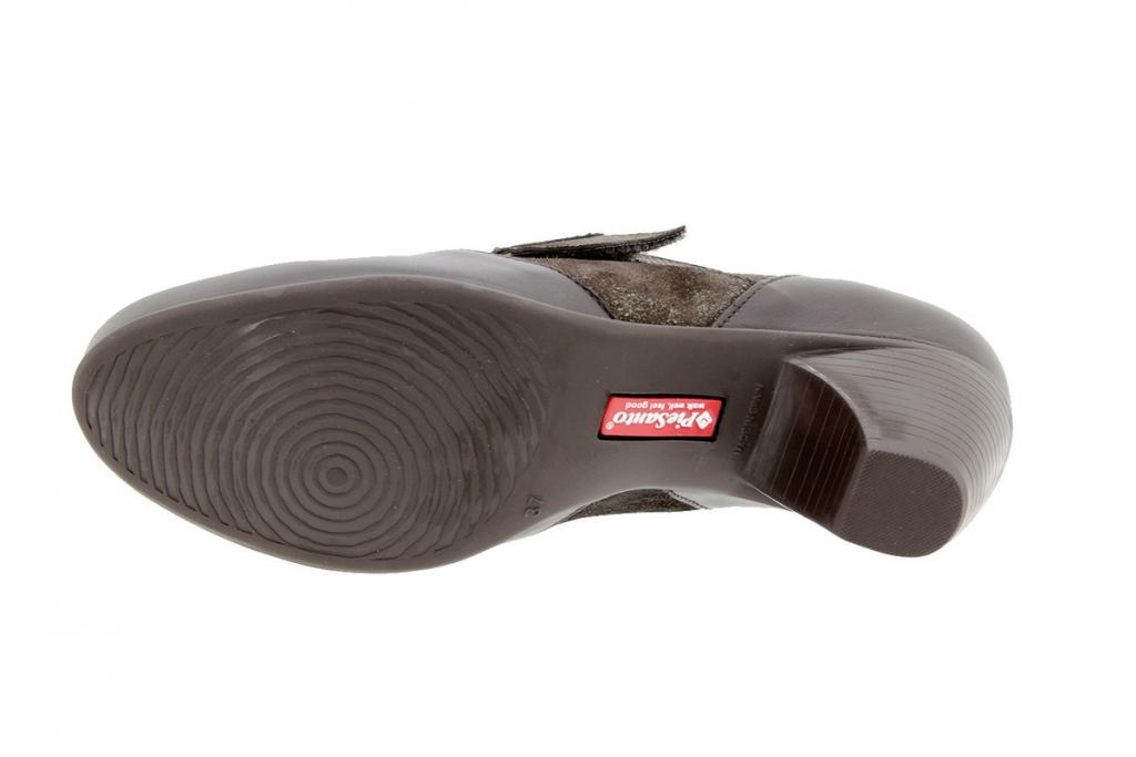 Zapato Velcro Piel Caoba 9406