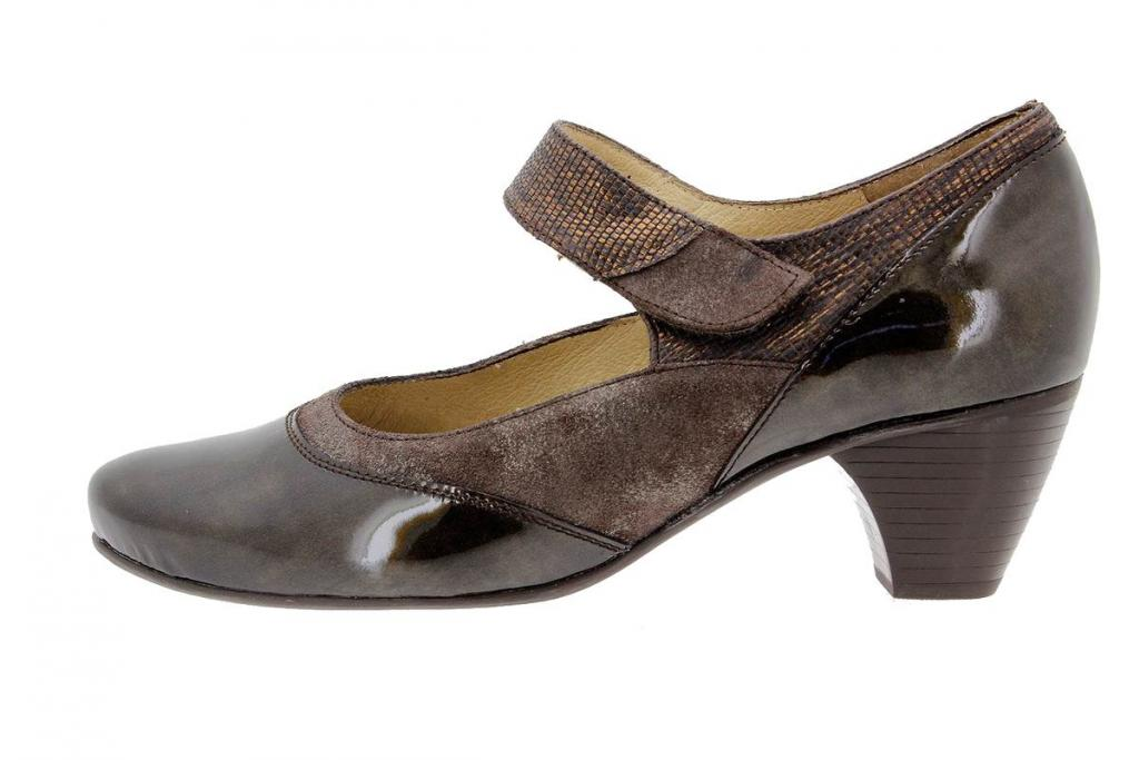 Mary-Jane Patent Taupe 9407