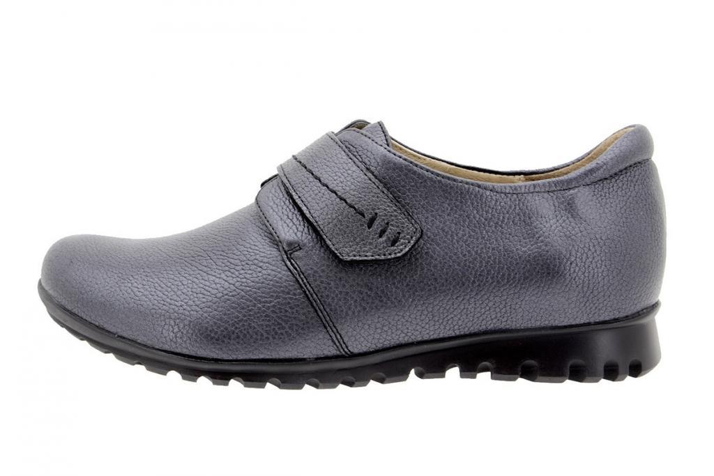 Zapato Velcro Piel Negro 9526