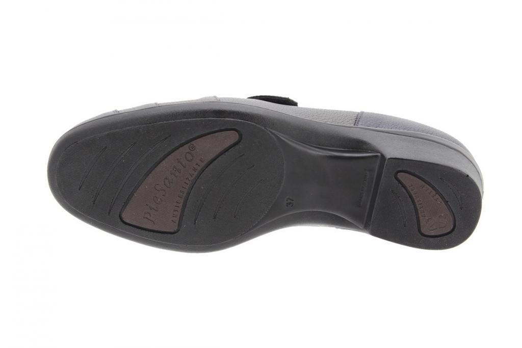 Zapato Velcro Piel Negro 9606