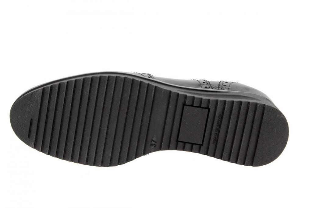 Zapato Cordón Charol Negro 9621