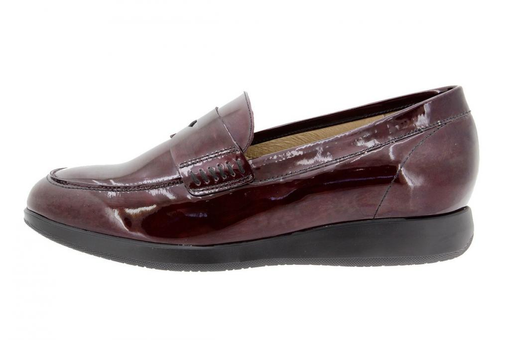 Moccasin Patent Bordeaux 9634