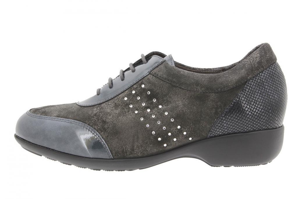 Tie shoe Patent Grey 9675
