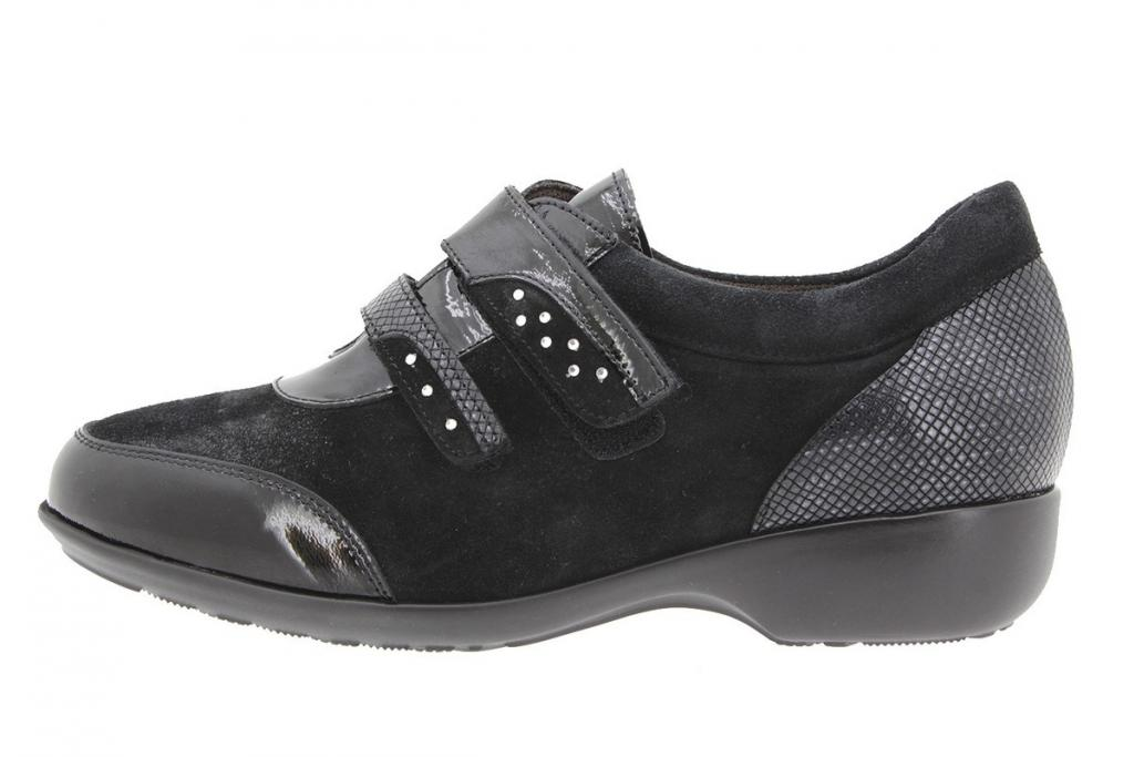Velcro shoe Patent Black 9676