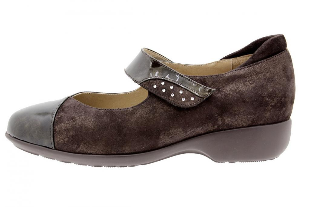 Mary-Jane Patent Taupe 9677
