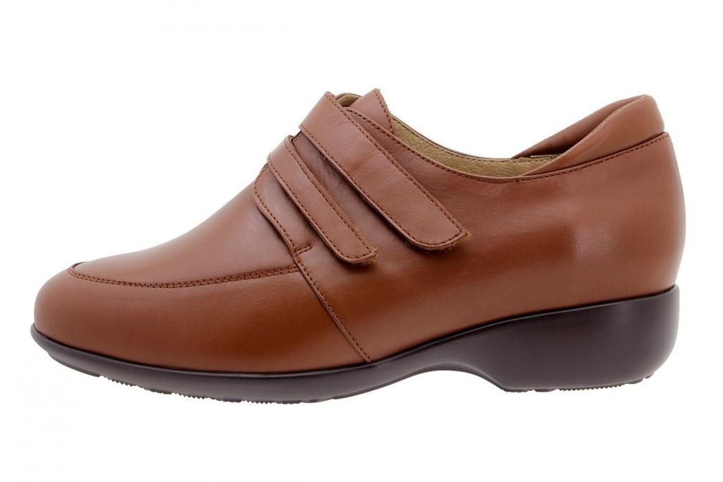 Velcro shoe Leather Cognac 9679