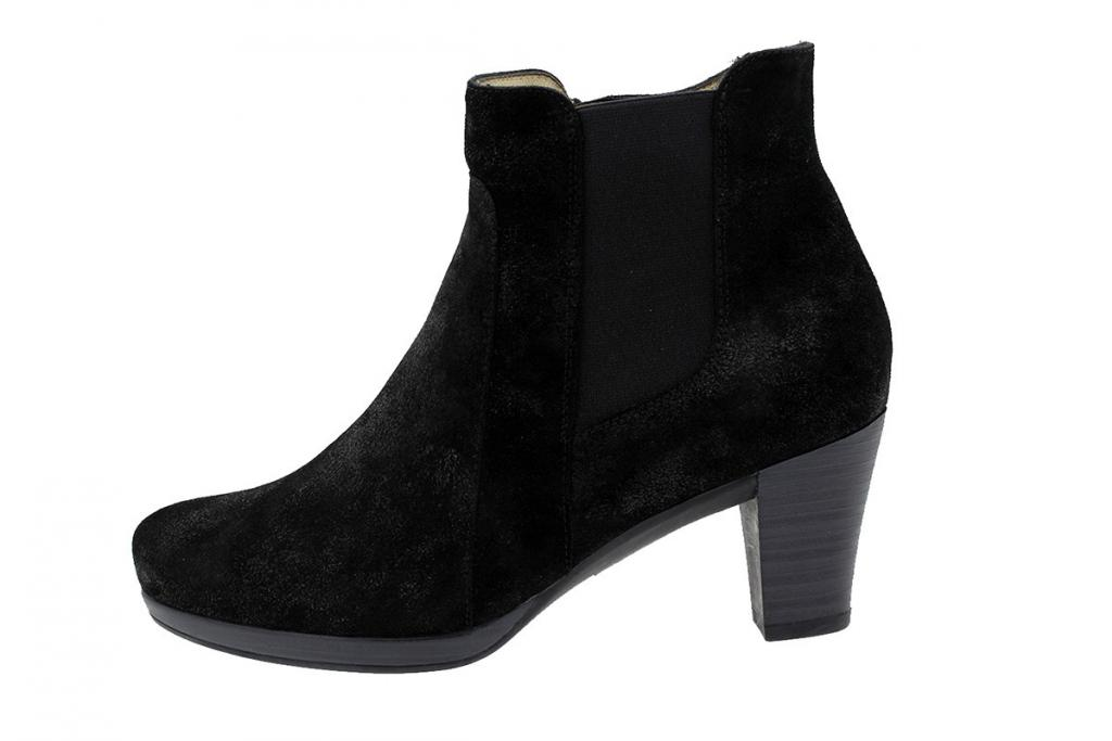 Ankle Boot Metal Suede Black 9804