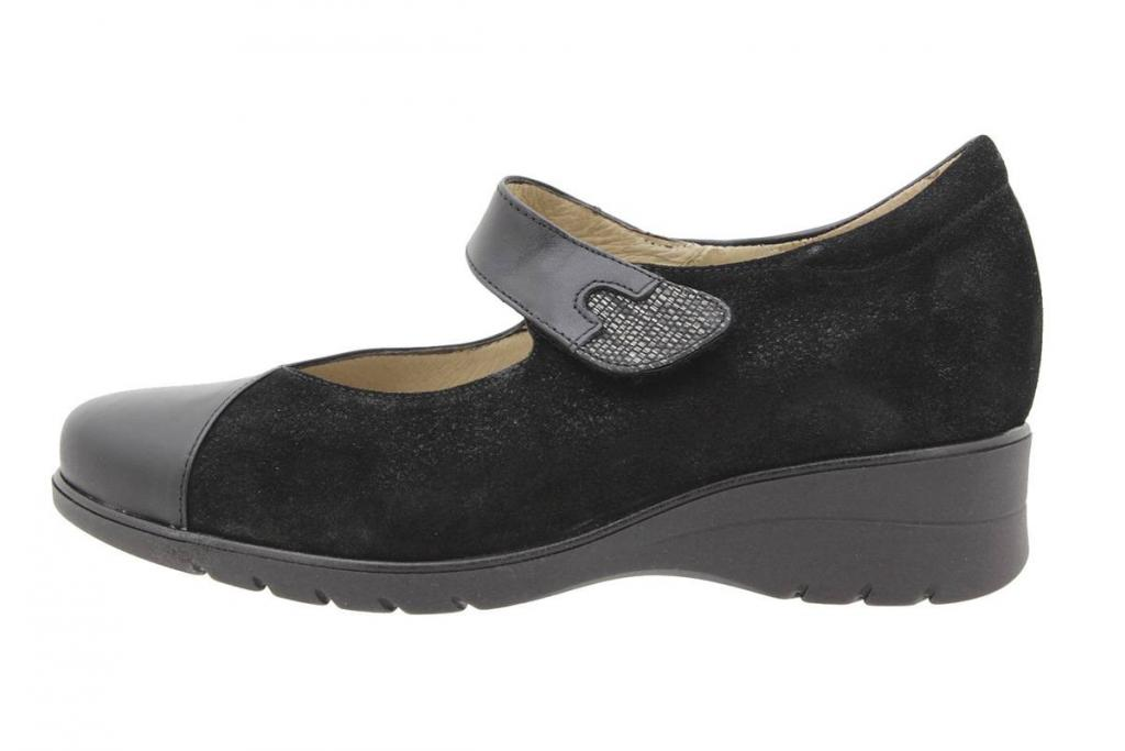 Mary-Jane Leather-Suede Black 9953