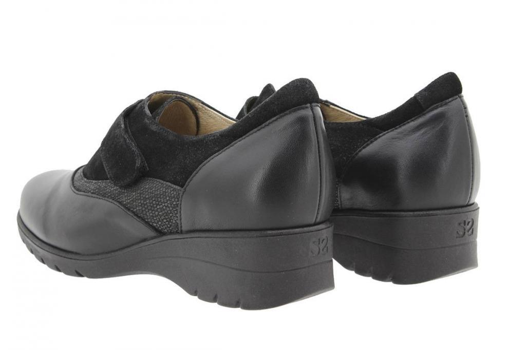 Zapato Velcro Piel Negro 9956