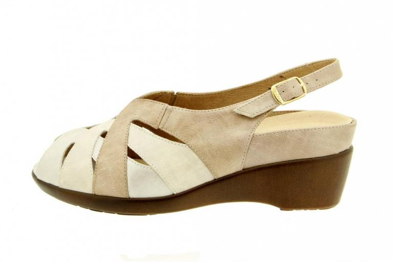 Removable Insole Sandal Metal Pearl 1153