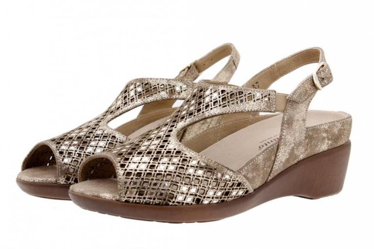 Removable Insole Sandal Metal Suede Mink 1157