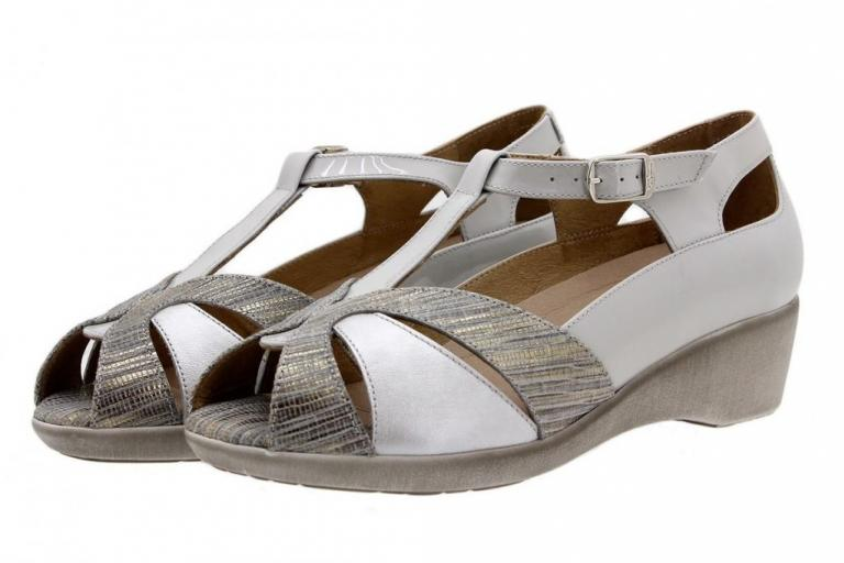 Removable Insole Sandal Grey Metal