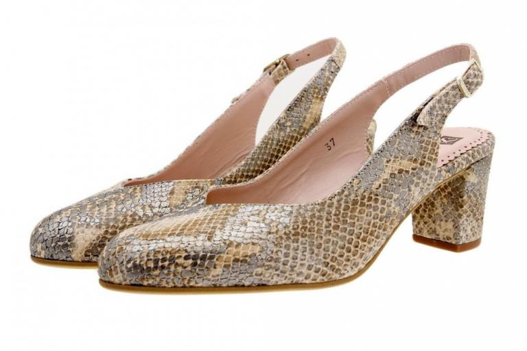 Court shoe Snake Tan 1229