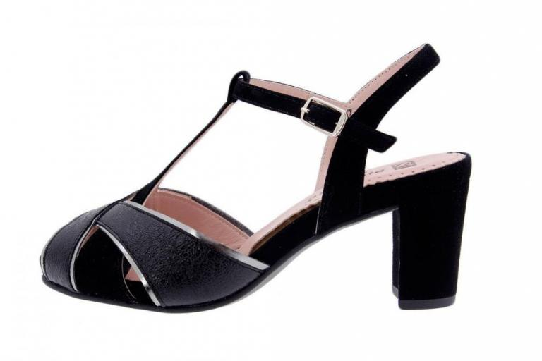 Heel Sandal Metal Black