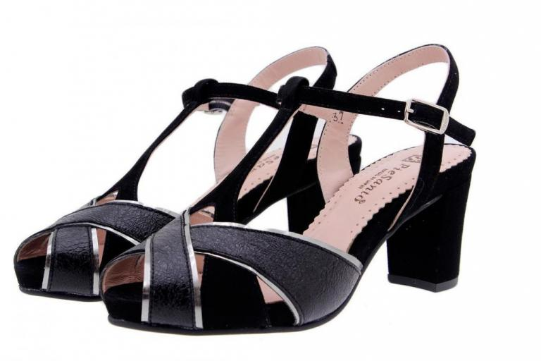 Heel Sandal Metal Black 1258