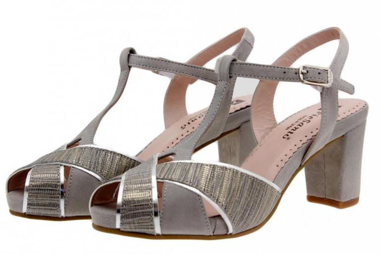 Heel Sandal Snake Grey 1258
