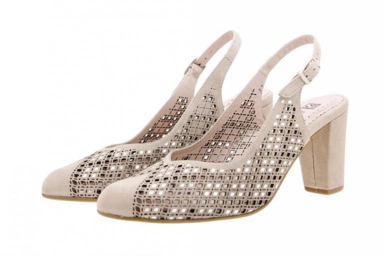 Dress shoe Suede Nude 1277-F