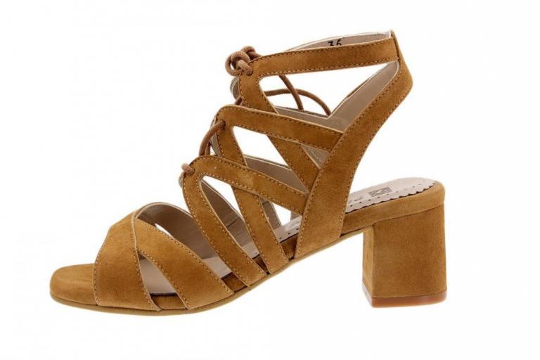 Heel Sandal Suede Tan 1492