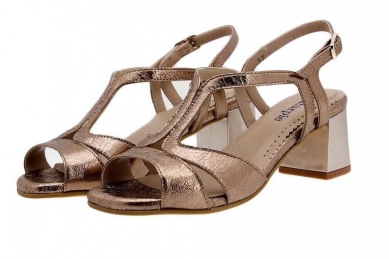 Heel Sandal Metal Nude 1495
